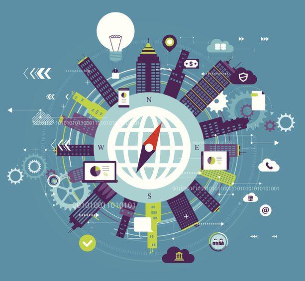 Vector illustration - Global communication